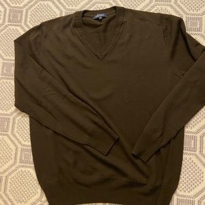 Canali wool v neck sweater